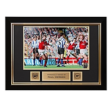 Arsenal Paul Merson Framed Signed Photo Sheff Wed Celebration