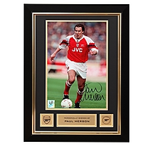 Arsenal Paul Merson Framed Signed Photo 1993 League Cup Final