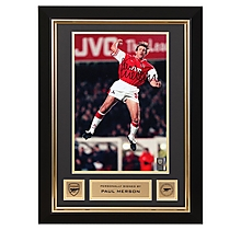 Arsenal Paul Merson Framed Signed Photo Jump Celebration