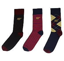 Arsenal 3 Pack Socks Gift Box
