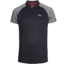 Arsenal Leisure Marl Raglan Sleeve Polo