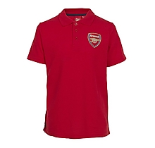 Arsenal Kids Leisure Crest Badge Polo (2-13yrs)