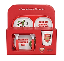 Arsenal Kids Melamine 4 Piece Dinner Set