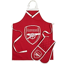 Arsenal Apron & Oven Glove Set