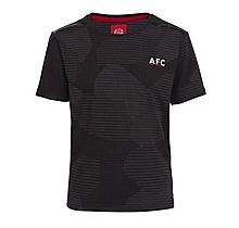 Arsenal Kids Leisure Abstract Print T-Shirt (4-13yrs)