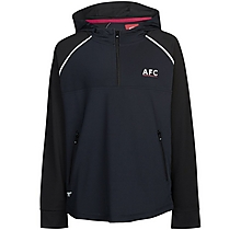 Arsenal Kids Leisure Tricot 1/4 Zip Hoody (4-13yrs)