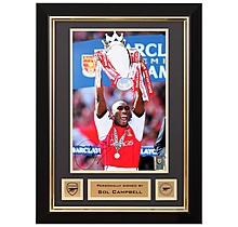 Sol Campbell Lifting Premiership Trophy 2002 Signed Frame