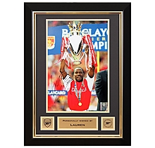 Lauren Lifting Premiership Trophy 2002 Signed Frame