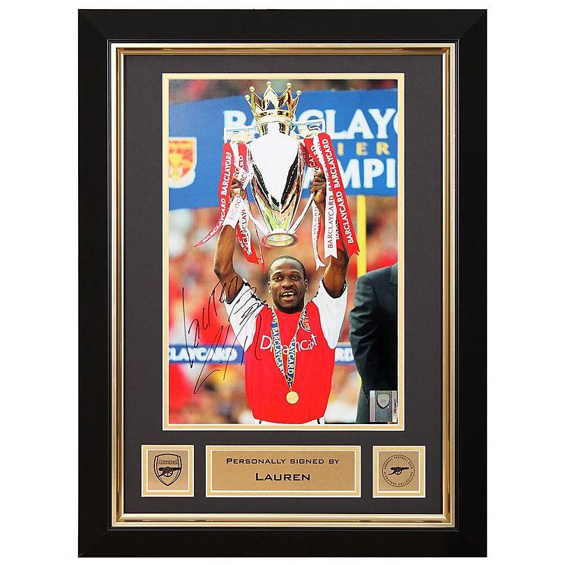 Lauren Premiership Trophy Signed Frame | Official Arsenal Online Store