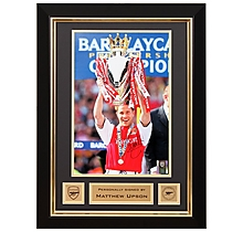 Matthew Upson Lifting Premiership Trophy 2002 Signed Frame