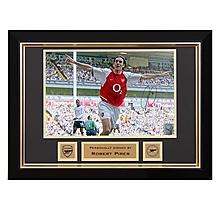 Robert Pires Celebrates V Tottenham 2004 Signed Frame