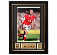 Emmanuel Petit Signed Framed Photo