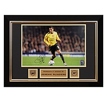 Arsenal Aliadiere V Everton Carling Cup 2006 Signed Frame
