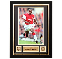 Luis Boa Morte Signed Framed Photo