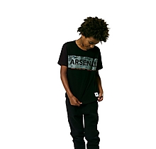 Arsenal Kids Since 1886 Mono Geo Text T-Shirt (4-13yrs)