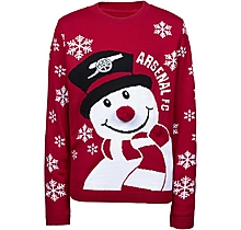 Arsenal Kids Snowman Christmas Jumper (4-13yrs)