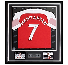 Mkhitaryan Framed Signed 18/19 Shirt