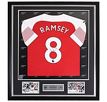 Ramsey Framed Signed 18/19 Shirt