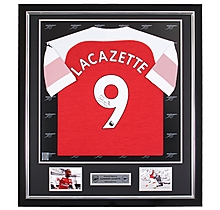 Lacazette Framed Signed 18/19 Shirt