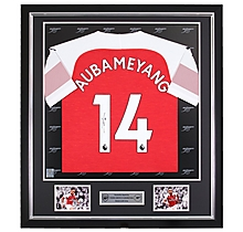 Aubameyang Framed Signed 18/19 Shirt