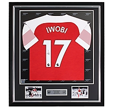 Iwobi Framed Signed 18/19 Shirt