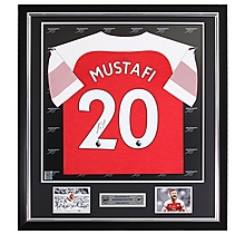 Mustafi Framed Signed 18/19 Shirt