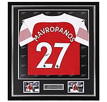 Mavropanos Framed Signed 18/19 Shirt