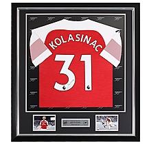 Kolasinac Framed Signed 18/19 Shirt