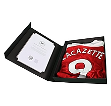 Arsenal Lacazette Boxed Signed 18/19 Home Shirt