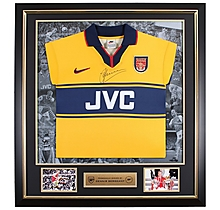 Dennis Bergkamp Framed Signed 97-99 Away Shirt