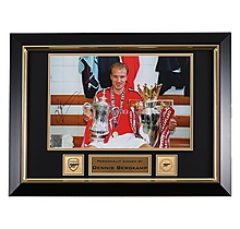 Dennis Bergkamp Trophies Framed Signed Photo