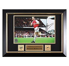 Bergkamp Goal Celebration Framed Signed Photo
