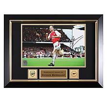 Arsenal Framed Bergkamp Goal Celebration Signed Photo