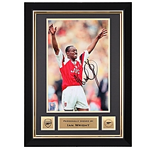 Ian Wright Goal Celebration Framed Signed Print