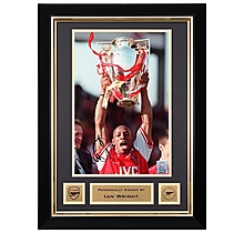 Ian Wright Framed Signed Prem Trophy Print