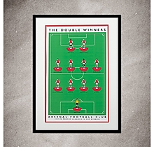 Arsenal Double Win A3 Print