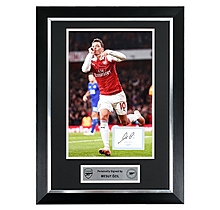 Ozil Framed Signed 18/19 Print