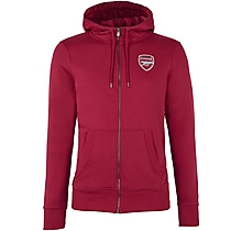 Arsenal Essentials Zip Hoody Red