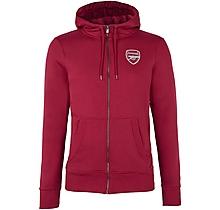 Arsenal Essentials Zip Hoody Red
