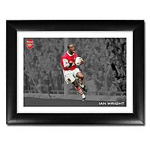 Arsenal Framed Ian Wright 100 Goals Print