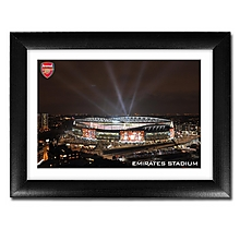 Arsenal Emirates at Night Print