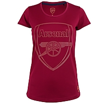 Arsenal Womens Crest Stud Marl T-Shirt