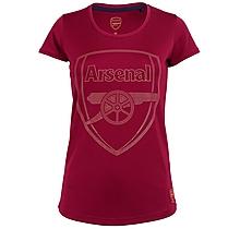 Arsenal Womens Crest Stud Marl T-Shirt