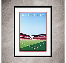 Arsenal Highbury West Stand North Bank Print