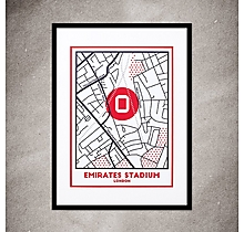Arsenal On The Map Print