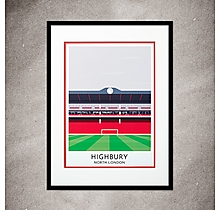 Arsenal Contemporary Highbury Print