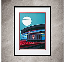Arsenal Under The Moon Print