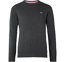 Arsenal Essentials Dark Grey Crew Cotton Jumper