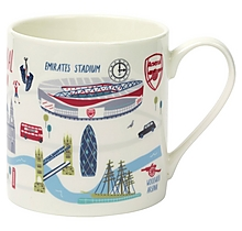 Arsenal London Map Mug