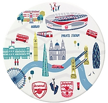 Arsenal London Map Ceramic Coaster